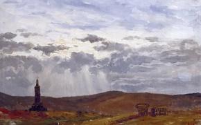 Картинка пейзаж, Крест, Карлос де Хаэс
