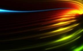 Обои свет, линии, цвет