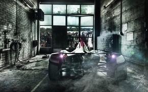 Картинка Zombie, Car, Smoke, BAC, Escape, Mono
