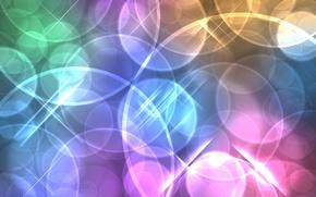Картинка линии, круги, абстракция, фон