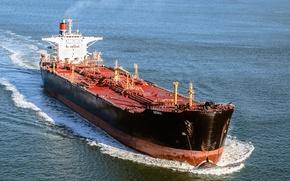 Картинка красный, океан, голубой, корабль, red, ocean, нефть, blue, ship, oil