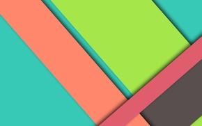 Картинка линии, розовый, голубой, wallpaper, геометрия, салатовый, color, material, desing