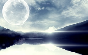 Картинка небо, вода, планета, sky, артart