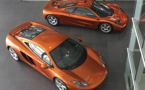 Обои McLaren MP4, Оранжевый, Салон