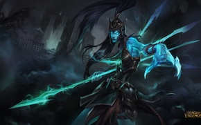 Картинка lol, league of legends, skin, vengeance, Kalista, spear of vengeance
