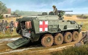 Картинка рисунок, страйкер, Evacuation, Vehicle, M1133, Medical, Stryker MEV