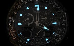 Картинка часы, Black Eagle, Citizen