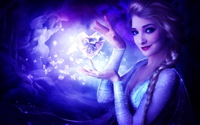 Картинка девушка, мультфильм, арт, ледяное сердце, frozen heart