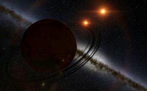 Картинка космос, звезды, поверхность, пространство, планета, пояс