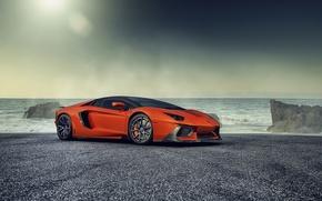 Картинка океан, тюнинг, Lamborghini, supercar, Vorsteiner, ламборгини, Zaragoza, Aventador-V