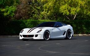 Картинка белая, Ferrari, суперкар, феррари, 599, Vorsteiner