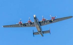 Обои ретро, самолет, парад, Liberator, Witchcraft, B-24J