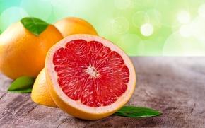 Обои широкоформатные, широкоэкранные, фон, HD wallpapers, обои, листья, грейпфрут, еда, полноэкранные, фрукт, background, wallpaper