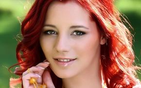 Картинка взгляд, лицо, модель, волосы, Ariel Piper Fawn