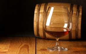 Картинка дерево, бокал, бочка, коньяк, cognac
