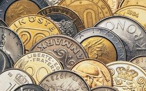 Обои деньги, железо, монеты