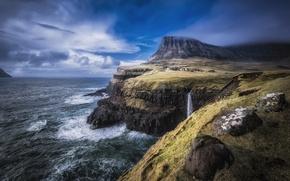 Обои faroe islands, north atlantic, пейзаж