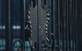 Картинка металл, замок, забор, решетка, ковка
