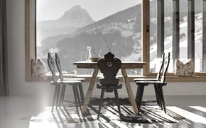 Картинка дизайн, стиль, комната, вилла, интерьер, столовая