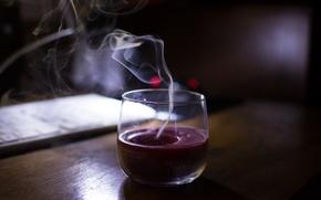 Картинка холод, ночь, одиночество, дым, свеча, минимализм, ночное фото