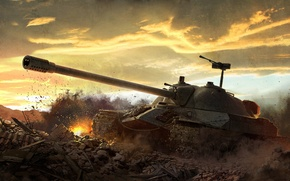 Обои World of tanks, WoT, ИС-7, Мир танков