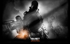 Картинка солдат, оружее, cod, шутер, будущие, black ops 2, Revolutioncall of duty