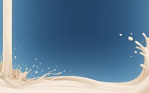 Картинка брызги, молоко, наливают, рисованое