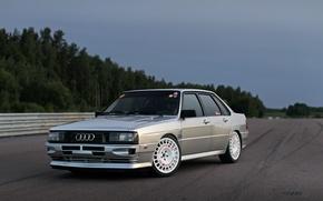 Картинка Audi, Седан, Quattro, 1984, Полноприводный, В анфас