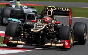 Картинка гонки, формула 1, lotus, автоспорт