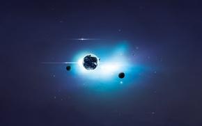 Картинка космос, планеты, арт, space