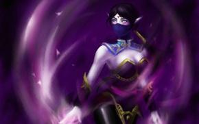 Картинка девушка, магия, арт, красавица, Dota 2, Lanaya, Templar Assassin, аура