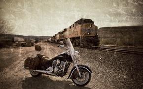 Картинка стиль, мотоцикл, байк, легенда, Indian Chief