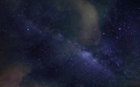 Картинка звезды, облака, ночь, млечный путь