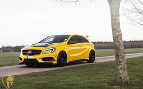 Картинка Mercedes, AMG, yellow, A45, automotive, A45AMG, mulgari