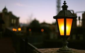 Картинка свет, фон, widescreen, обои, улица, лампа, размытие, wallpaper, разное, широкоформатные, background, боке, полноэкранные, HD wallpapers, …
