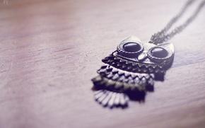 Картинка сова, кулон, украшение