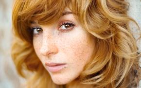 Картинка веснушки, рыжая, girl, redhead, actress, freckles, Vica Kerekes