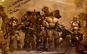 Картинка оружие, фотография, солдаты, снайпер, StarCraft 2, рейдеры, медик, Джима Рейнора
