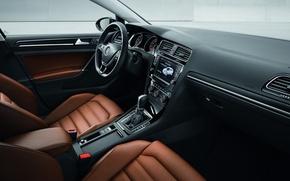 Картинка Golf, leather, interior, hatchback