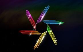 Картинка звёзды, кристаллы, шестигранник