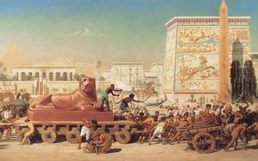 Картинка картина, живопись, painting, Edward Poynter, 1867, Israel in Egypt