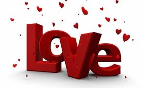 Обои Love, 14 февраля, Слово, Valentine's Day, Надпись, Любовь, День святого Валентина, Сердечки
