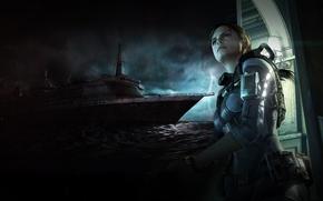 Картинка лайнер, Resident Evil, Revelations, Джилл