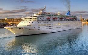 Картинка вода, фото, корабль, круизный лайнер