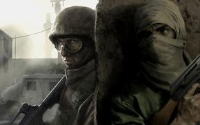 Обои оружие, война, солдаты, за углом, пулеметы, терроризм, Insurgency: Modern Infantry Combat