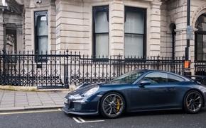 Картинка Porsche, Blue, GT3, London, Supercar, 991