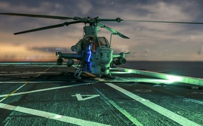 Картинка вертолет, Viper, ударный, Bell AH-1Z, «Вайпер»