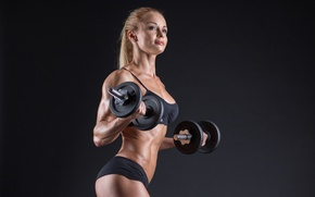 Картинка model, pose, workout, fitness, dumbbells, healthy food, healthy living, Bodybuilder, vitamin supplements
