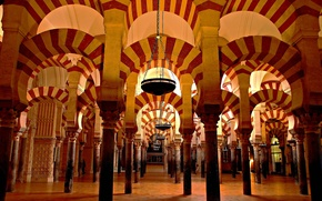 Картинка арка, мечеть, Испания, колонна, Кордова, мексита