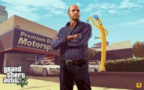 Картинка GTA, Grand Theft Auto V, GTA 5, Rockstar North, Rockstar Games, Simeon, Simeon Yetarian, Симон ...